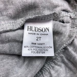 Hudson Jeans Shirts & Tops - |HUDSON| Grey Peplum Top with Bows Size 2T